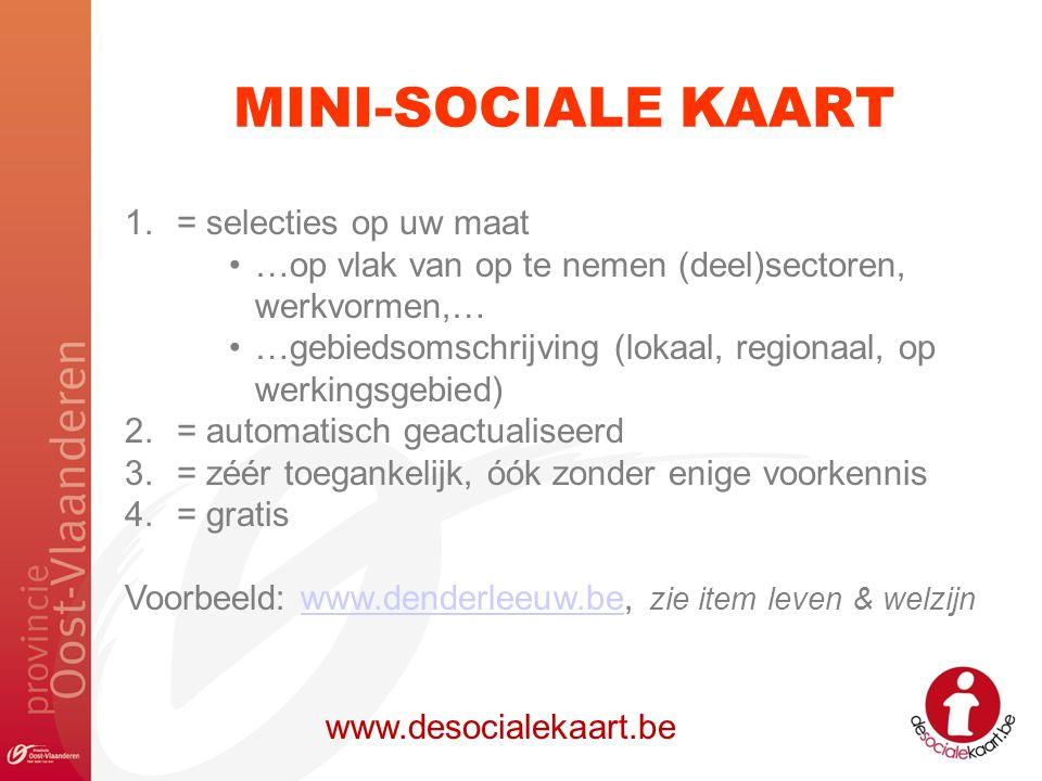 MINI-SOCIALE KAART = selecties op uw maat