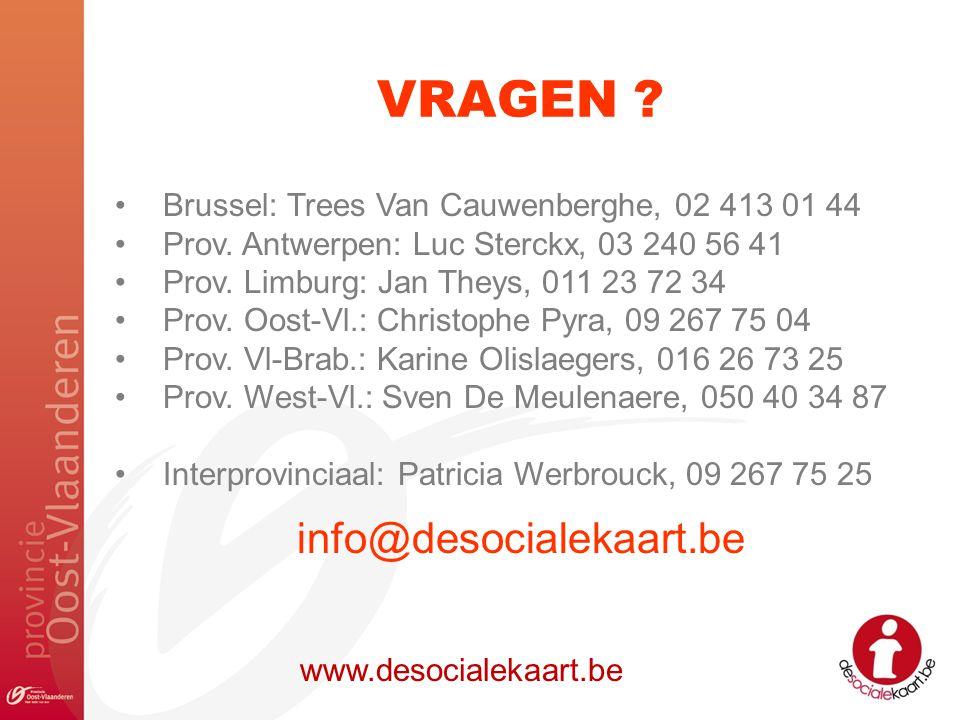 VRAGEN info@desocialekaart.be