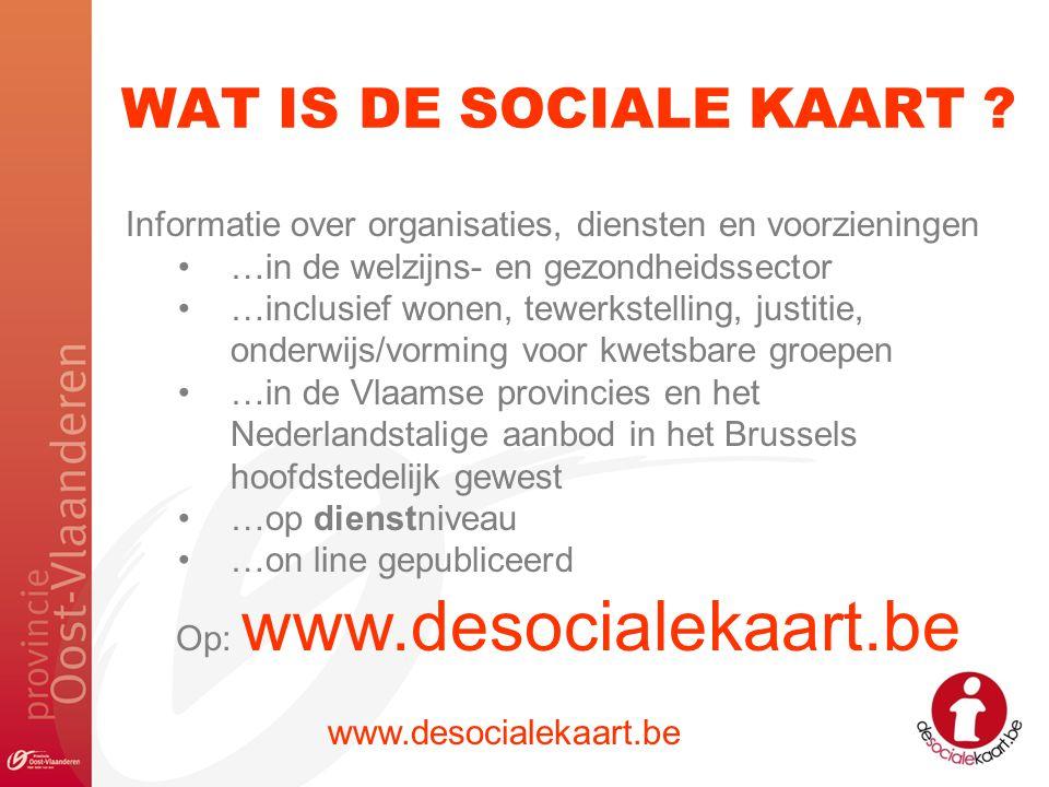 Op: www.desocialekaart.be