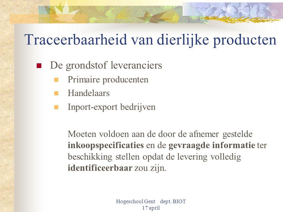 Traceerbaarheid van dierlijke producten