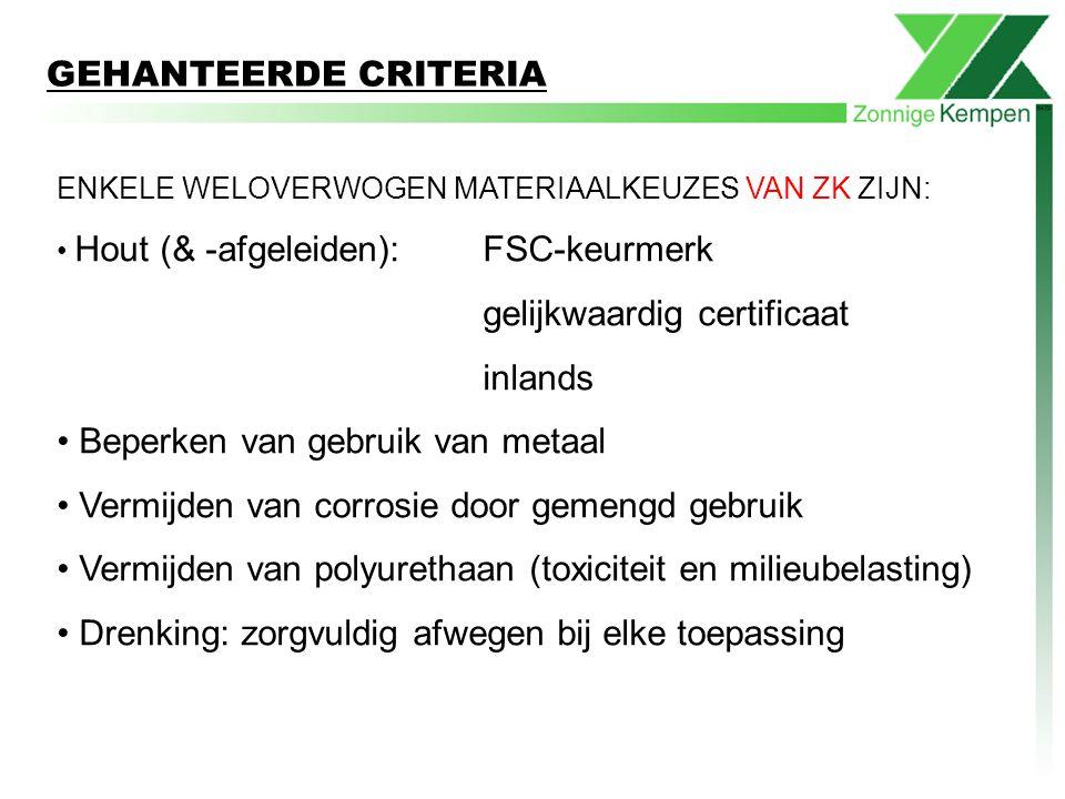 gelijkwaardig certificaat inlands Beperken van gebruik van metaal