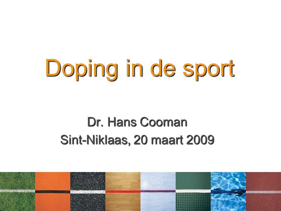 Dr. Hans Cooman Sint-Niklaas, 20 maart 2009
