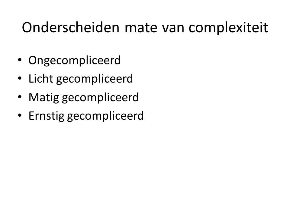 Onderscheiden mate van complexiteit