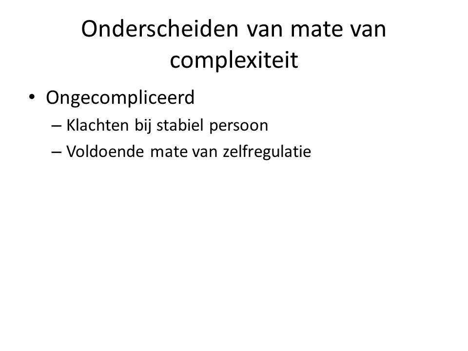 Onderscheiden van mate van complexiteit