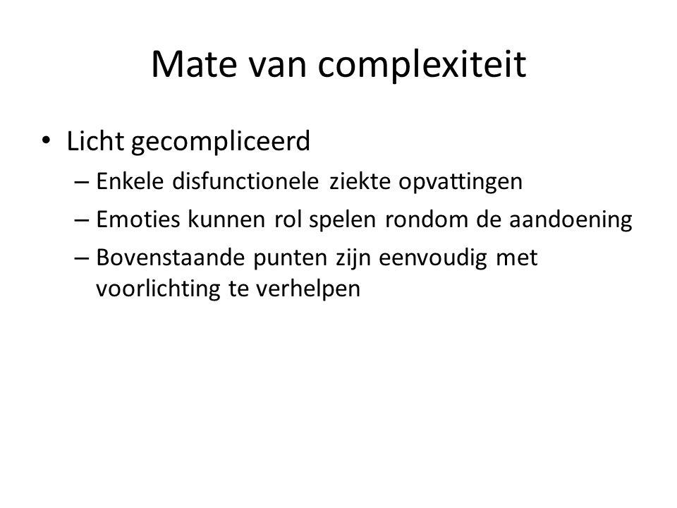 Mate van complexiteit Licht gecompliceerd