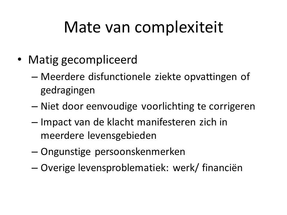 Mate van complexiteit Matig gecompliceerd