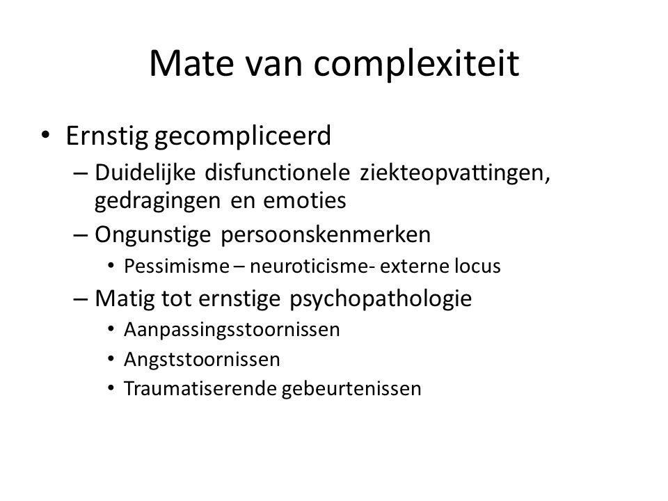 Mate van complexiteit Ernstig gecompliceerd