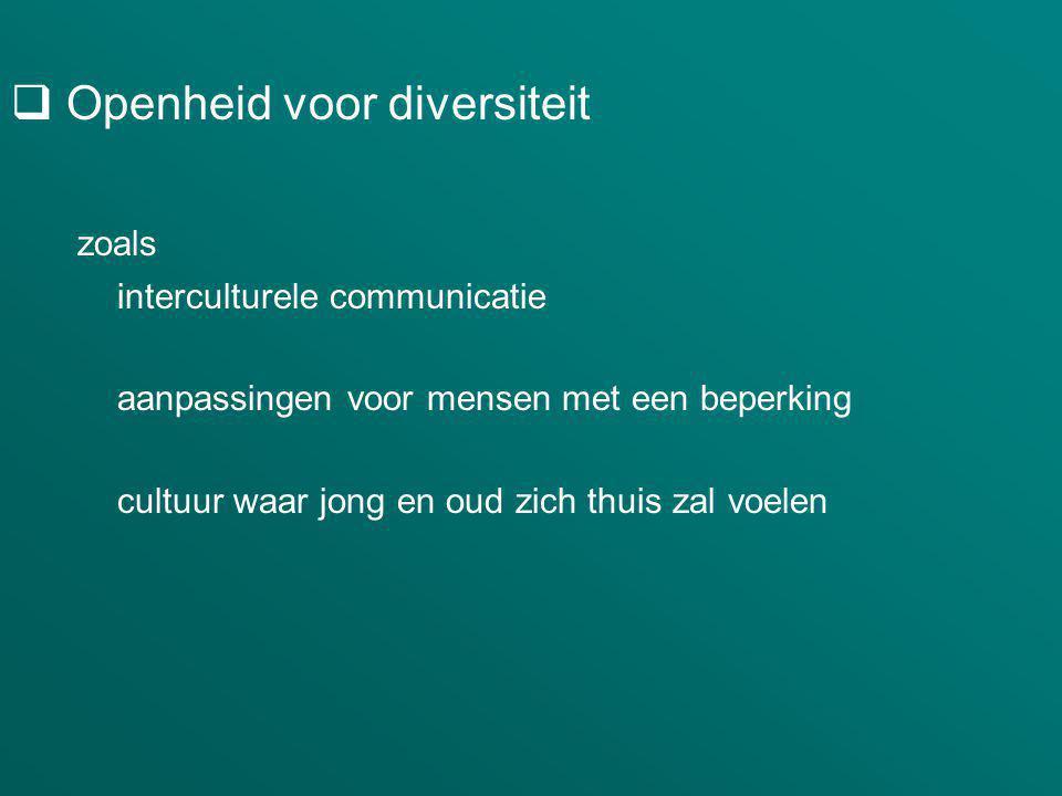 Openheid voor diversiteit zoals