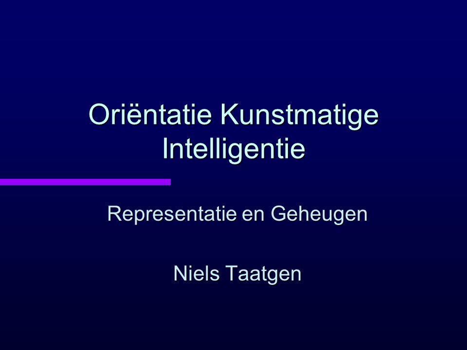Oriëntatie Kunstmatige Intelligentie
