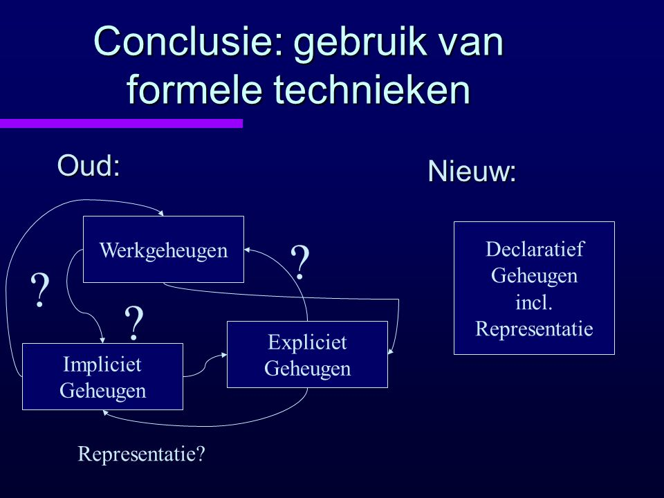 Conclusie: gebruik van formele technieken