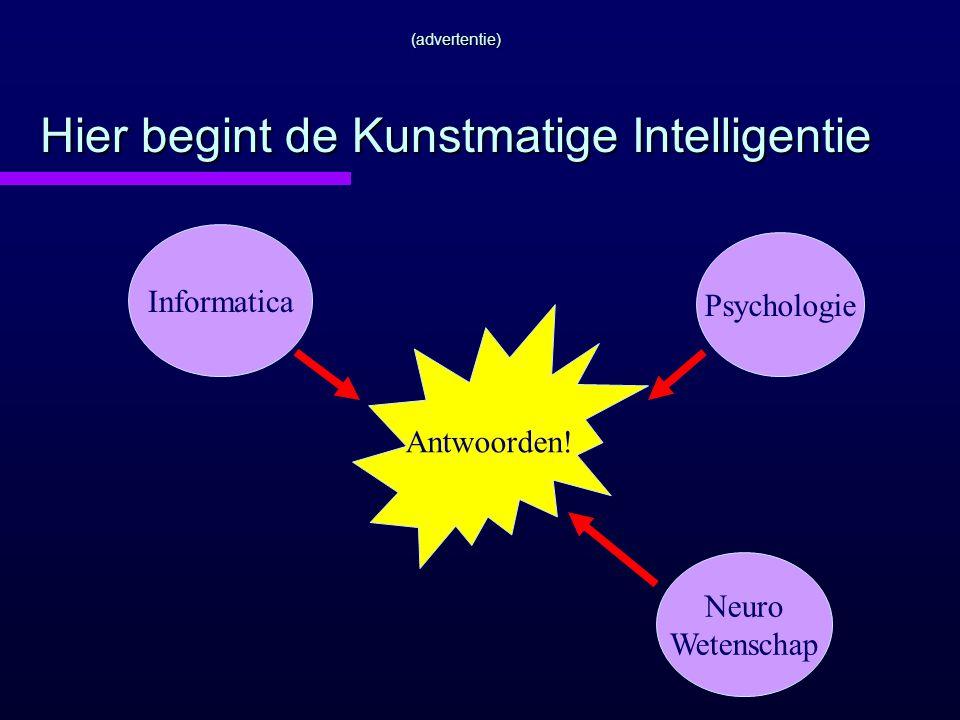 (advertentie) Hier begint de Kunstmatige Intelligentie