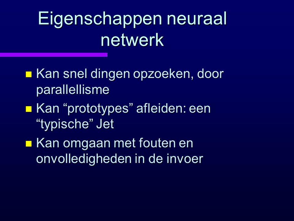 Eigenschappen neuraal netwerk