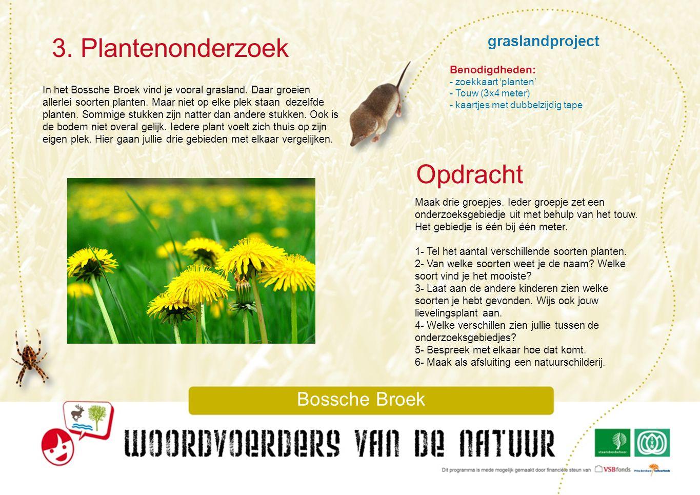3. Plantenonderzoek Opdracht graslandproject Bossche Broek