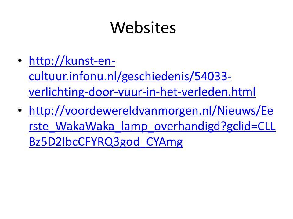 Websites http://kunst-en-cultuur.infonu.nl/geschiedenis/54033-verlichting-door-vuur-in-het-verleden.html.