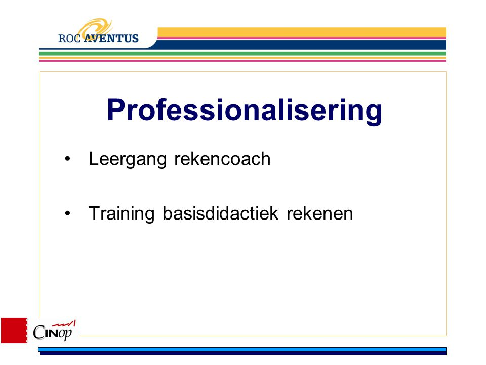 Leergang rekencoach Training basisdidactiek rekenen