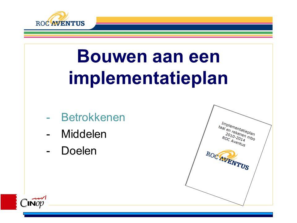 Bouwen aan een implementatieplan