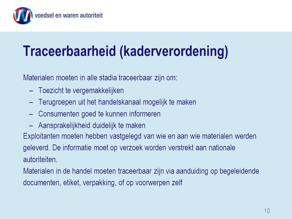 Traceerbaarheid (kaderverordening)