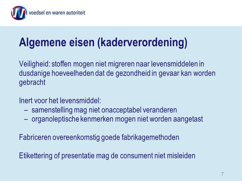 Algemene eisen (kaderverordening)
