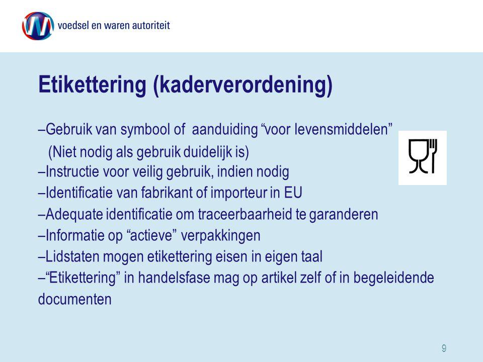 Etikettering (kaderverordening)
