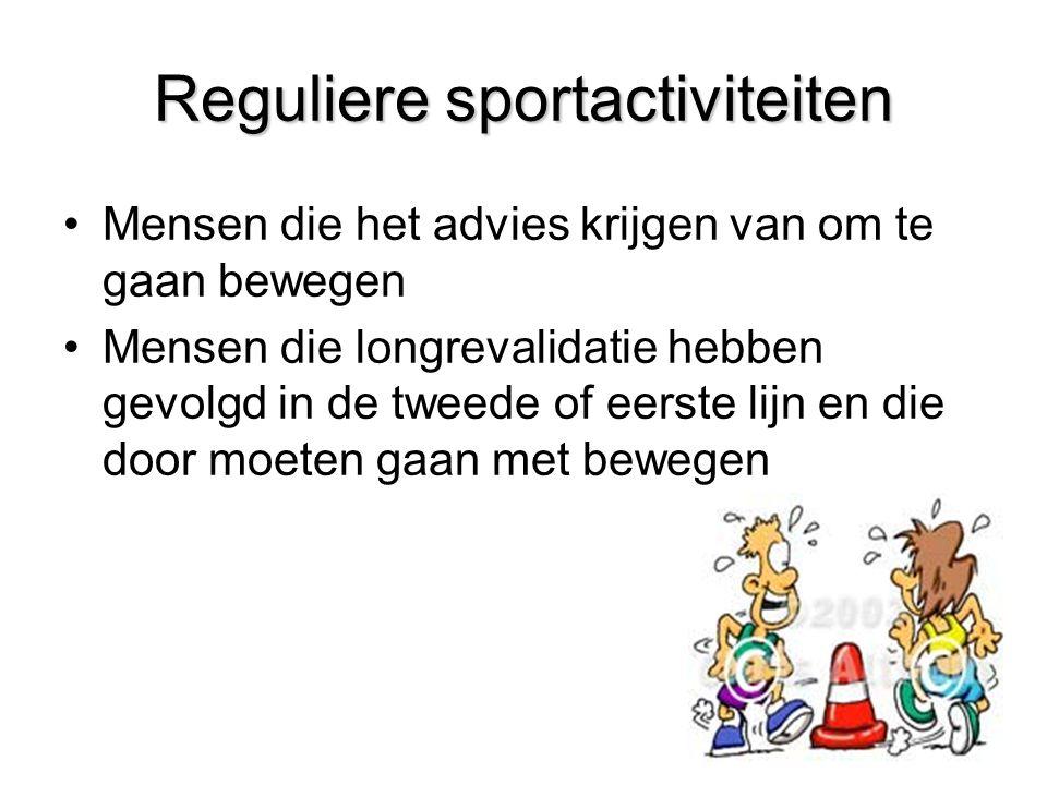 Reguliere sportactiviteiten
