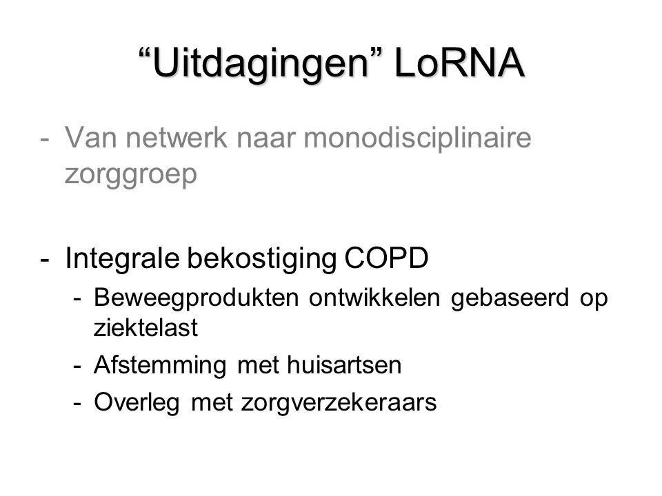 Uitdagingen LoRNA Van netwerk naar monodisciplinaire zorggroep