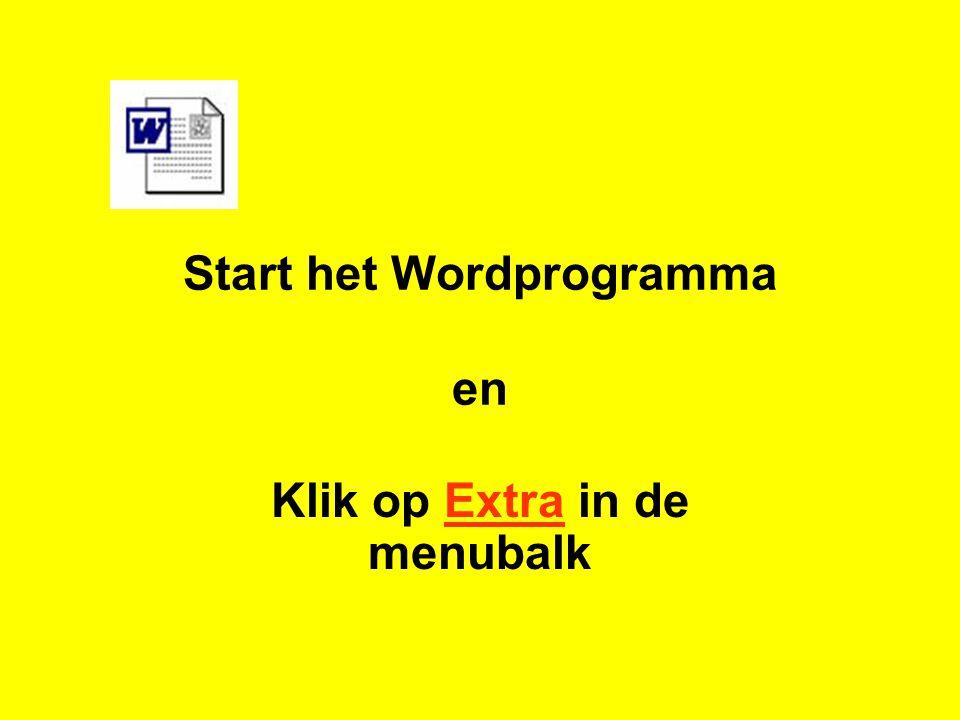 Start het Wordprogramma en
