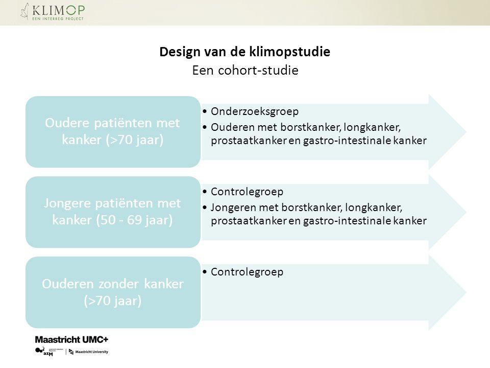 Design van de klimopstudie Een cohort-studie