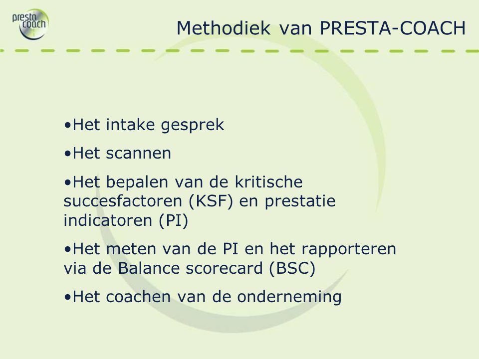 Methodiek van PRESTA-COACH