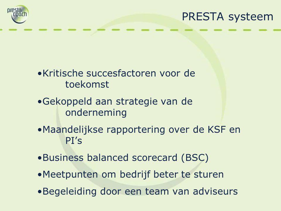 PRESTA systeem Kritische succesfactoren voor de toekomst