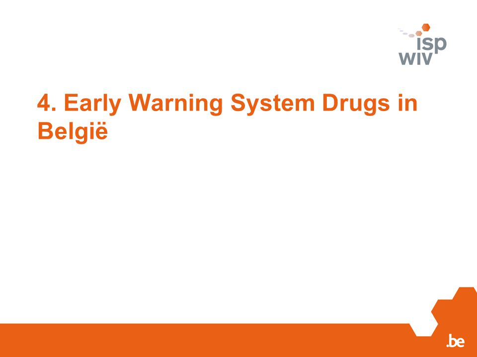 4. Early Warning System Drugs in België