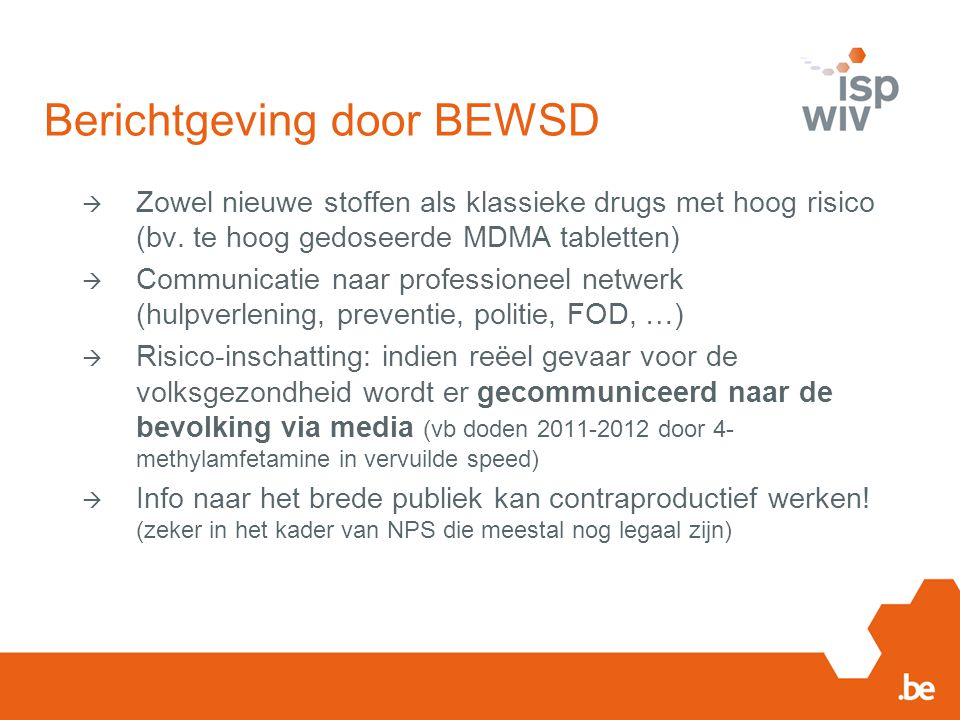 Berichtgeving door BEWSD