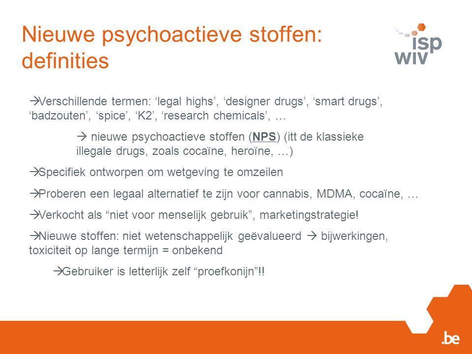 Nieuwe psychoactieve stoffen: definities