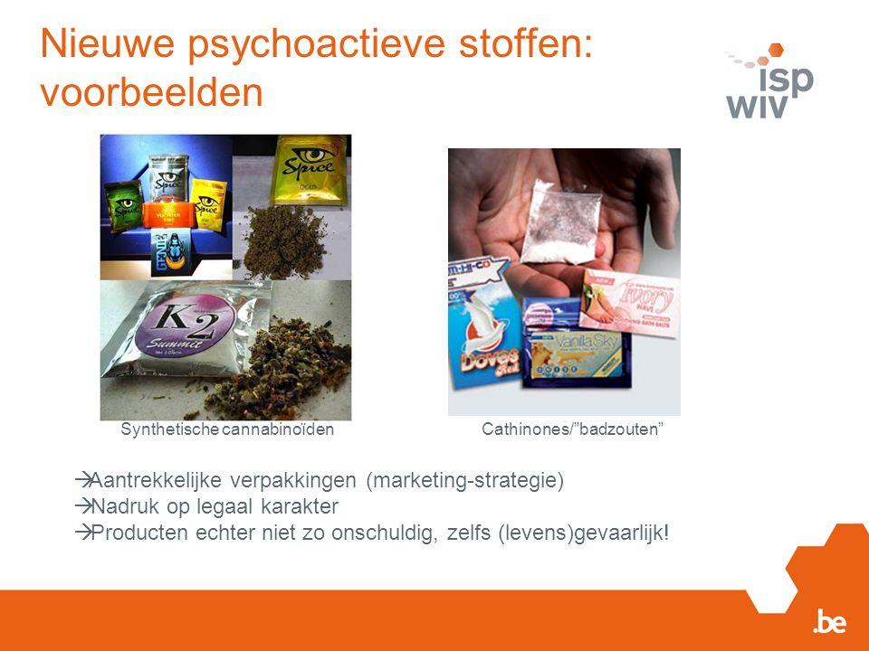Nieuwe psychoactieve stoffen: voorbeelden