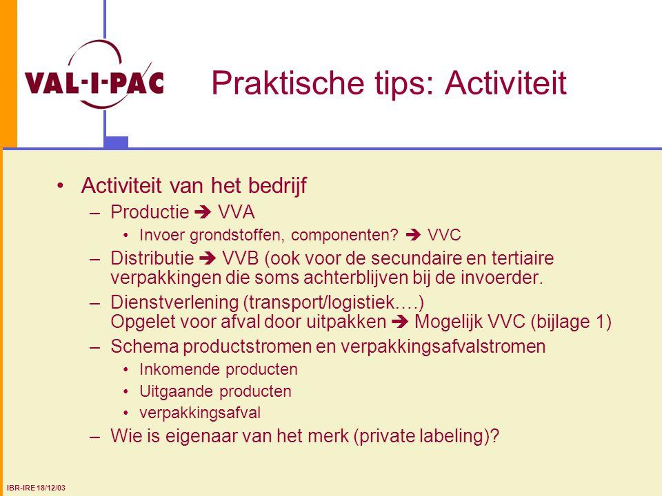 Praktische tips: Activiteit