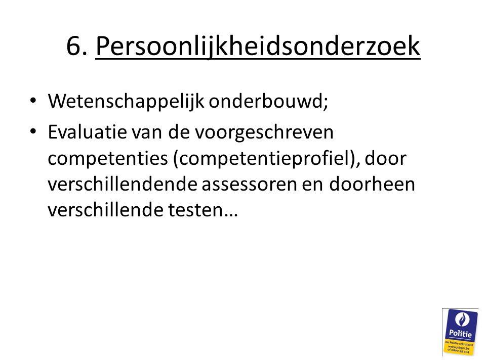 6. Persoonlijkheidsonderzoek