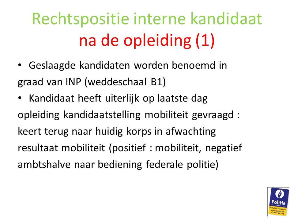 Rechtspositie interne kandidaat na de opleiding (1)