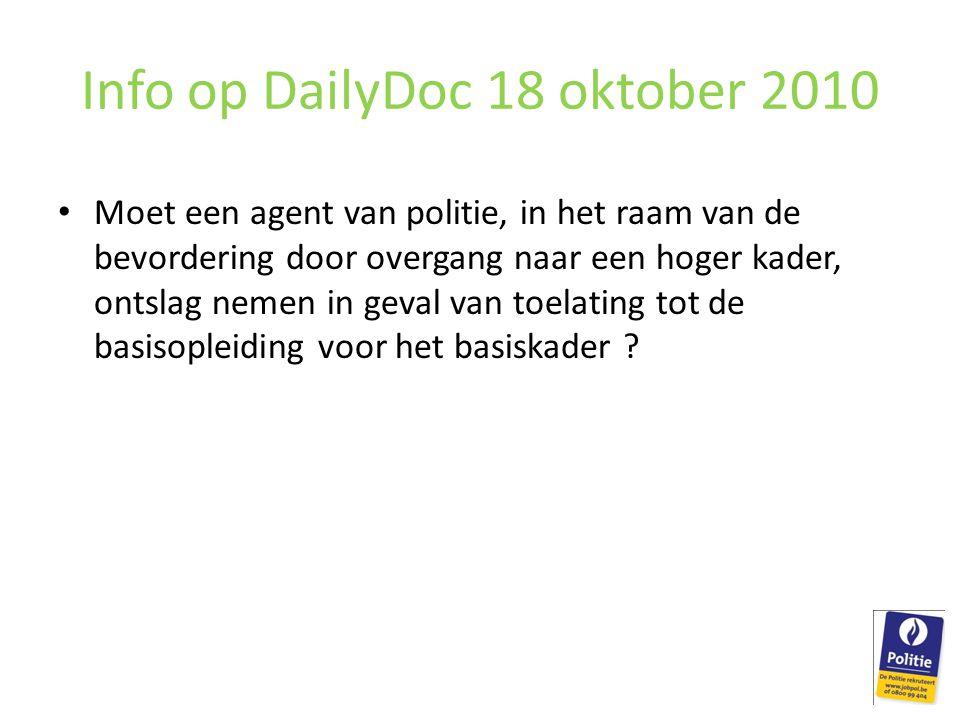 Info op DailyDoc 18 oktober 2010
