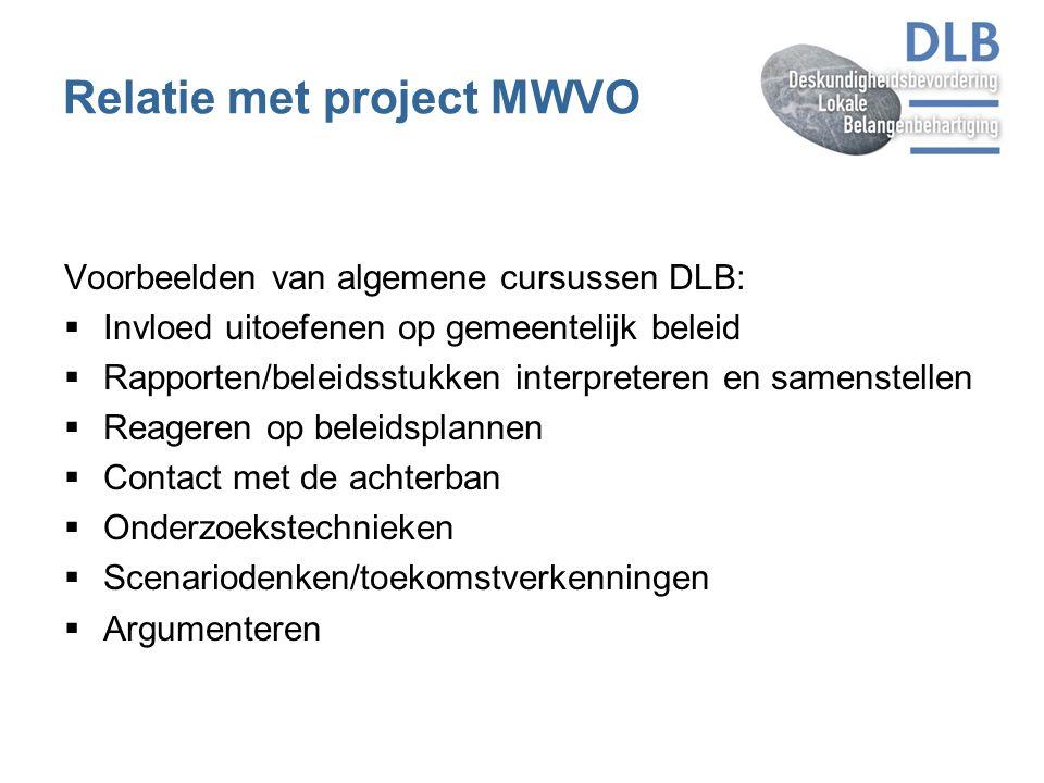 Relatie met project MWVO