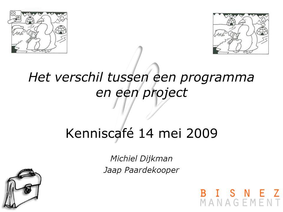 Het verschil tussen een programma en een project