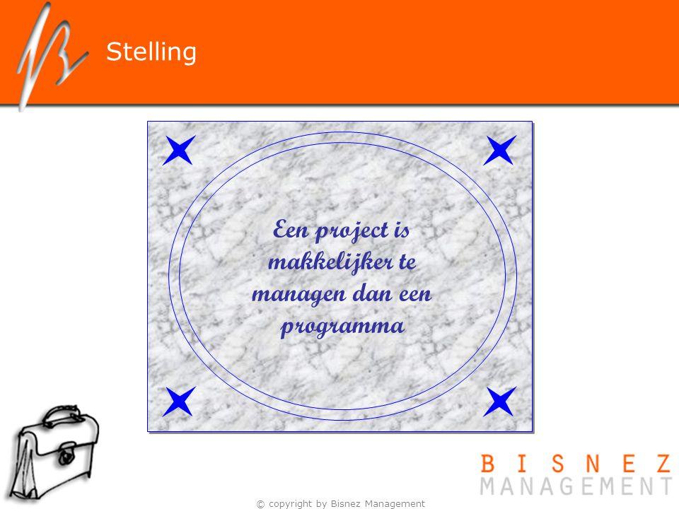 Een project is makkelijker te managen dan een programma
