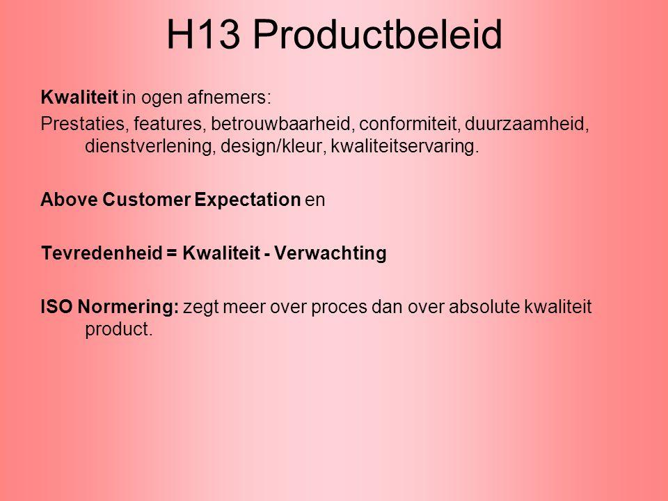 H13 Productbeleid Kwaliteit in ogen afnemers: