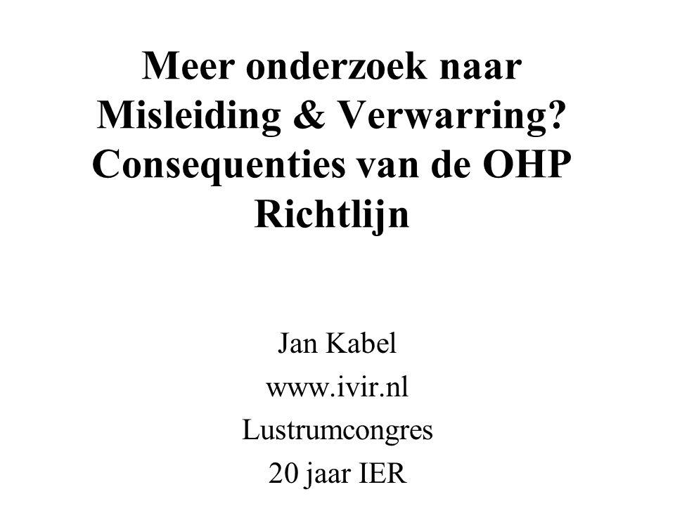 Jan Kabel www.ivir.nl Lustrumcongres 20 jaar IER