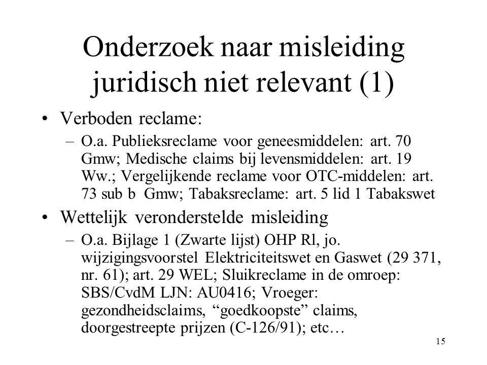 Onderzoek naar misleiding juridisch niet relevant (1)
