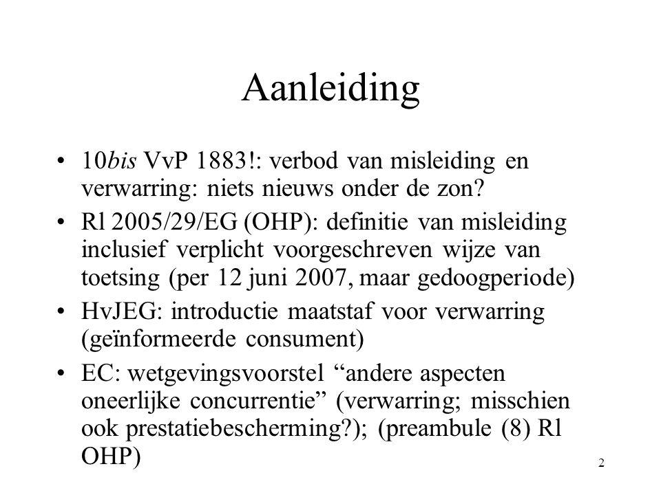 Aanleiding 10bis VvP 1883!: verbod van misleiding en verwarring: niets nieuws onder de zon