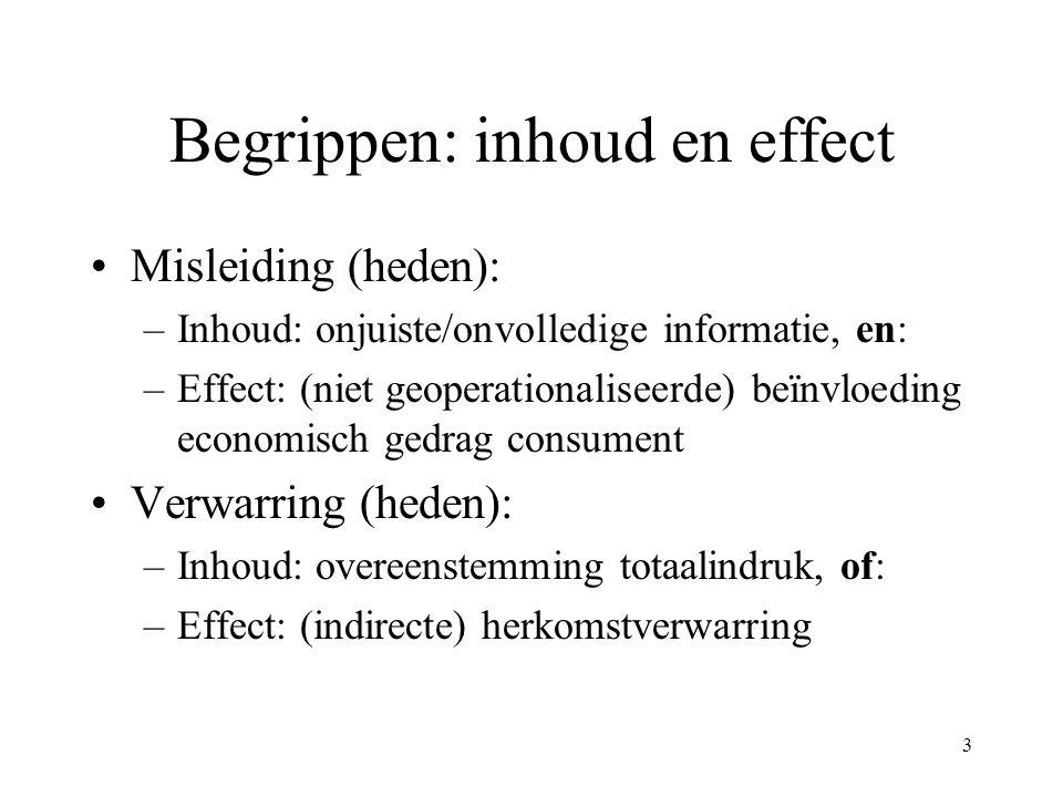 Begrippen: inhoud en effect