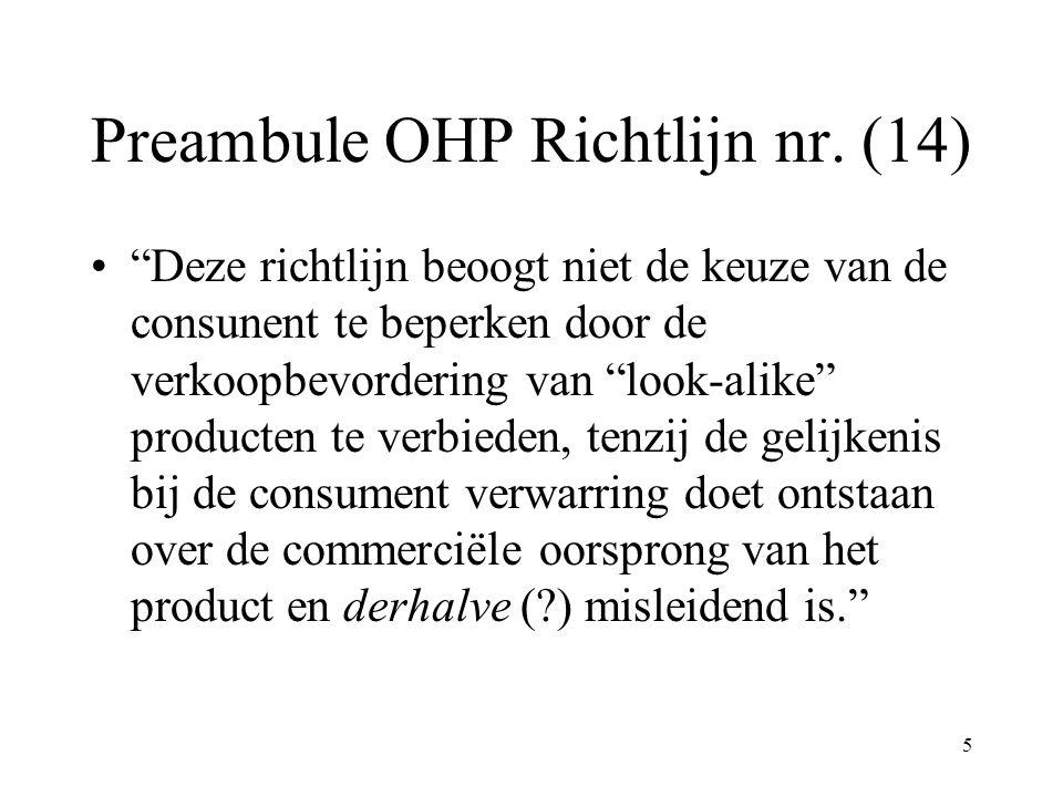 Preambule OHP Richtlijn nr. (14)