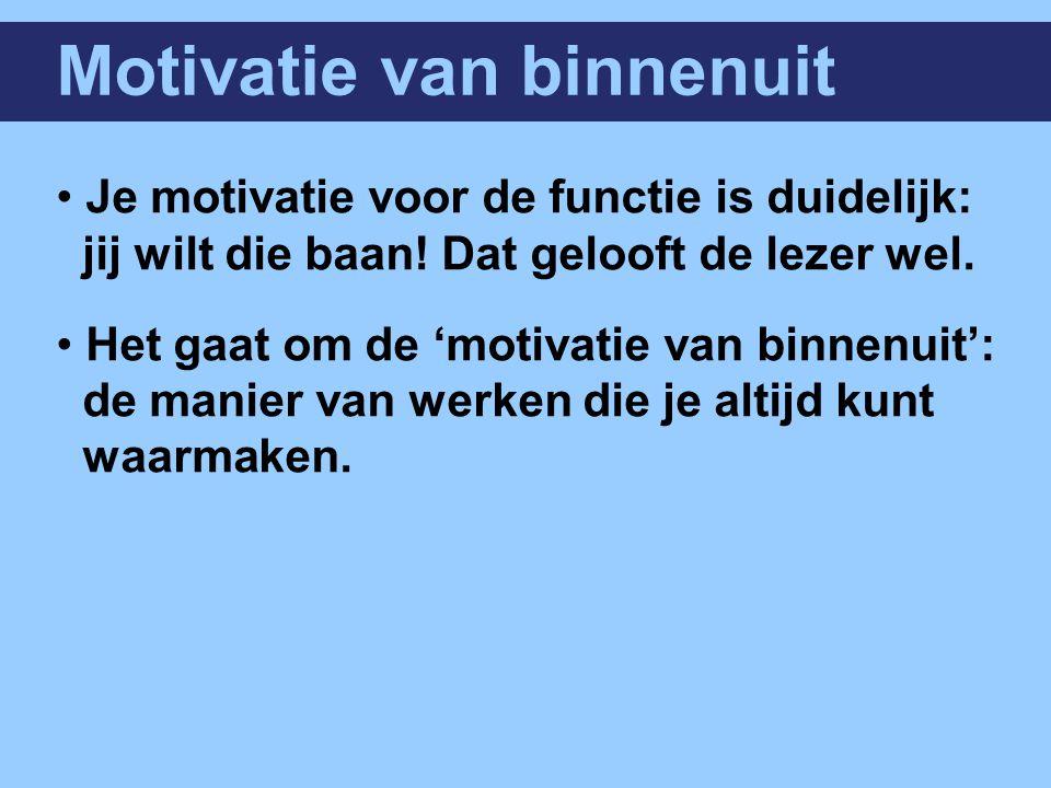 Motivatie van binnenuit