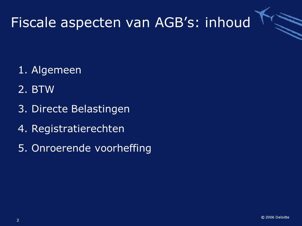 Fiscale aspecten van AGB's: inhoud