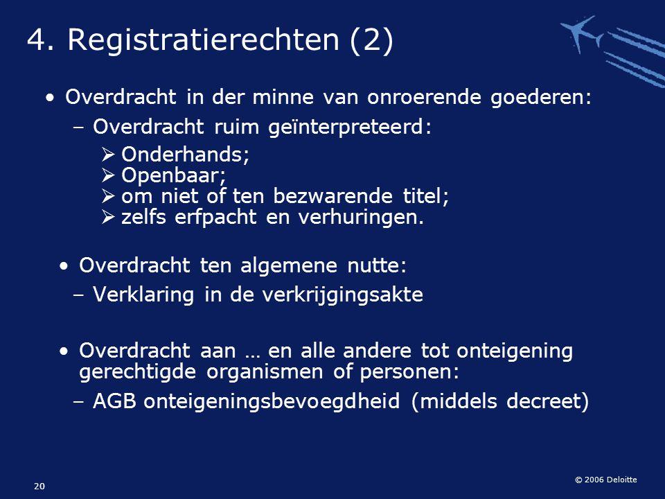 4. Registratierechten (2)