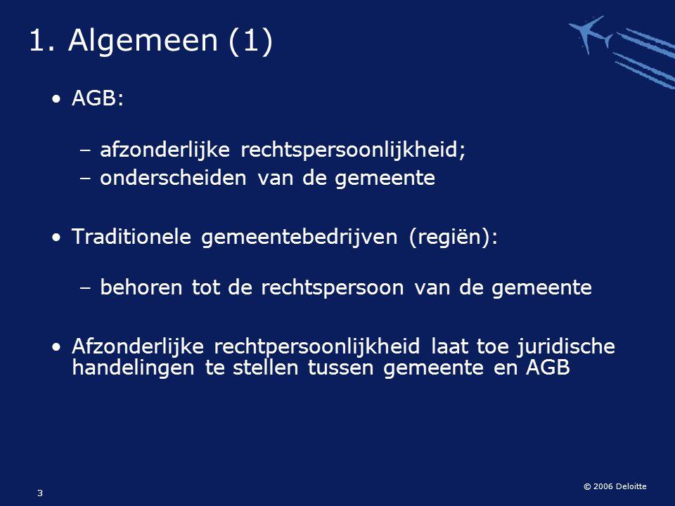 1. Algemeen (1) AGB: afzonderlijke rechtspersoonlijkheid;